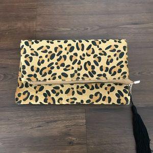 Boohoo leopard clutch